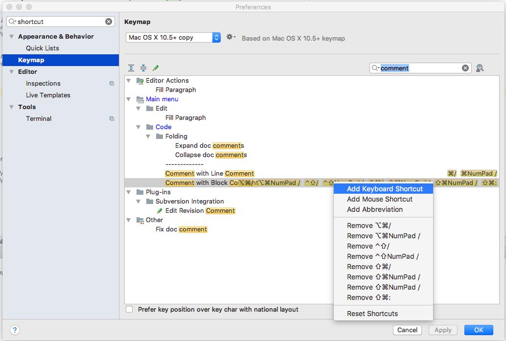 android-studio - Un raccourci clavier pour commenter ...